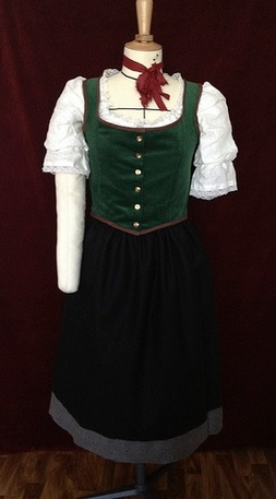 Traditional female hobbit costume