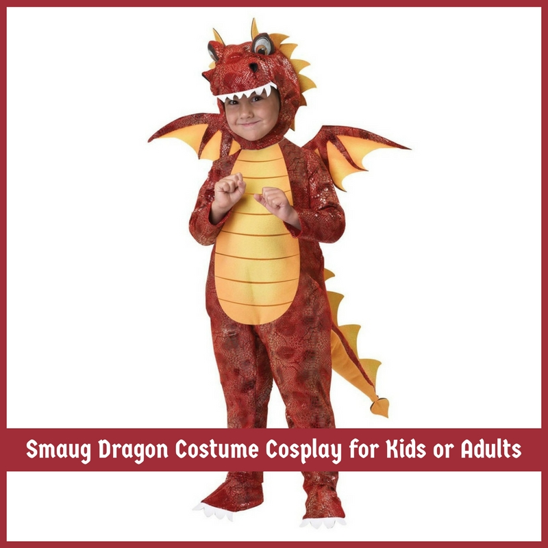 Smaug Dragon Costume Cosplay for Kids or Adults